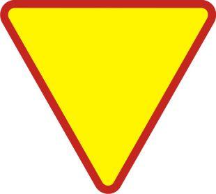 Znak A-7 Ustąp pierwszeństwa - drogowy ostrzegawczy