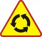 Znak A-8 Skrzyżowanie o ruchu okrężnym - drogowy ostrzegawczy