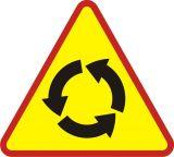 Znak A-8 Skrzyżowanie o ruchu okrężnym - drogowy ostrzegawczy - Znaki ostrzegawcze – znaki drogowe, cz. I