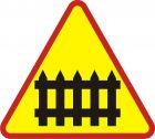 Znak A-9 Przejazd kolejowy z zaporami - drogowy ostrzegawczy