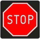 Znak aktywny drogowy B-20 STOP! - pełny LED