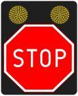 Znak aktywny drogowy B-20 STOP! - pulsator LED