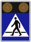Znak aktywny drogowy D-6 D-6a D-6b przejście dla pieszych, rowerzystów - fi-200 Sign Flash