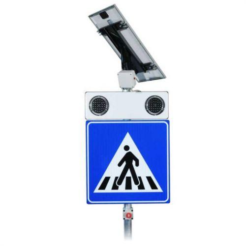 Znak aktywny przejście dla pieszych D-6 z panelem solarnym - 2 komplety - Aktywne przejścia dla pieszych