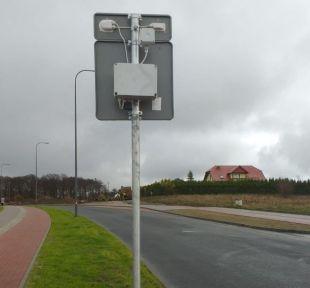 Znak aktywny przejście dla pieszych D-6 z panelem solarnym - 2 sztuki