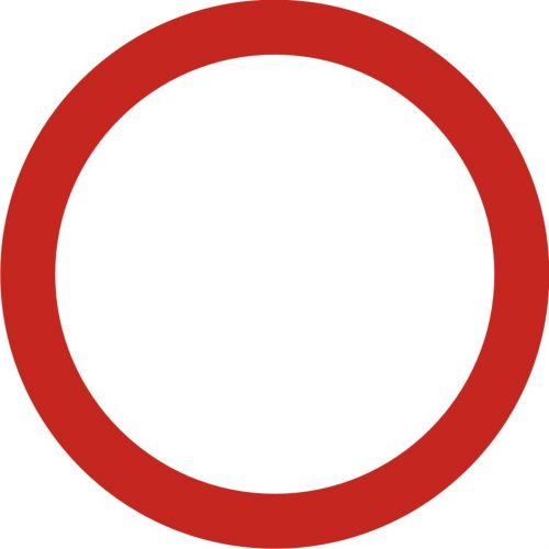 Znak B-1 Zakaz ruchu w obu kierunkach - drogowy zakazu - Zakaz ruchu w obu kierunkach – znak B-1