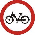 Znak B-10 Zakaz wjazdu motorowerów - drogowy zakazu