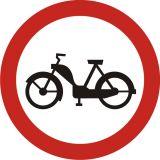 Znak B-10 Zakaz wjazdu motorowerów - drogowy zakazu - Znaki zakazu – znaki drogowe, cz. II