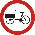 Znak B-11 Zakaz wjazdu wózków rowerowych - drogowy zakazu