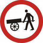 Znak B-12 Zakaz wjazdu wózków ręcznych - drogowy zakazu