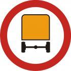 Znak B-13a Zakaz wjazdu pojazdów z towarami niebezpiecznymi - drogowy zakazu