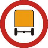 Znak B-13a Zakaz wjazdu pojazdów z towarami niebezpiecznymi - drogowy zakazu - Znaki zakazu – znaki drogowe, cz. II