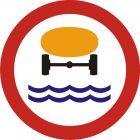 Znak B-14 Zakaz wjazdu pojazdów z towarami, które mogą skazić wodę - drogowy zakazu