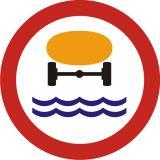 Znak B-14 Zakaz wjazdu pojazdów z towarami, które mogą skazić wodę - drogowy zakazu - Znaki zakazu – znaki drogowe, cz. II