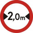 Znak B-15 Zakaz wjazdu pojazdów o szerokości ponad ... m - drogowy zakazu