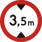 Znak B-16 Zakaz wjazdu pojazdów o wysokości ponad ... m - drogowy zakazu
