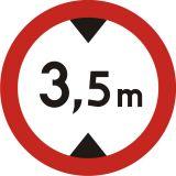 Znak B-16 Zakaz wjazdu pojazdów o wysokości ponad ... m - drogowy zakazu - Znaki zakazu – znaki drogowe, cz. II