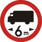 Znak B-17 Zakaz wjazdu pojazdów o długości ponad ... m - drogowy zakazu