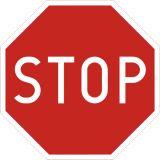 Znak B-20 Stop! - drogowy zakazu - Wielkości znaków drogowych pionowych