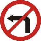 Znak B-21 Zakaz skręcania w lewo - drogowy zakazu