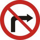 Znak B-22 Zakaz skręcania w prawo - drogowy zakazu
