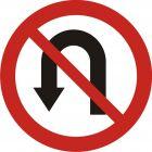 Znak B-23 Zakaz zawracania - drogowy zakazu