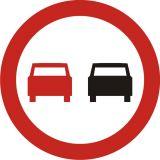 Znak B-25 Zakaz wyprzedzania - drogowy zakazu - Znaki zakazu – znaki drogowe, cz. II