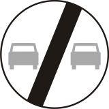 Znak B-27 Koniec zakazu wyprzedzania - drogowy zakazu - Znaki zakazu – znaki drogowe, cz. II