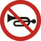 Znak B-29 Zakaz używania sygnałów dźwiękowych - drogowy zakazu
