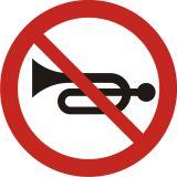 Znak B-29 Zakaz używania sygnałów dźwiękowych - drogowy zakazu - Znaki zakazu – znaki drogowe, cz. II