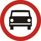 Znak B-3 Zakaz wjazdu pojazdów silnikowych z wyjątkiem motocykli jednośladowych - drogowy zakazu