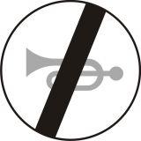 Znak B-30 Koniec zakazu używania sygnałów dźwiękowych - drogowy zakazu - Znaki zakazu – znaki drogowe, cz. II