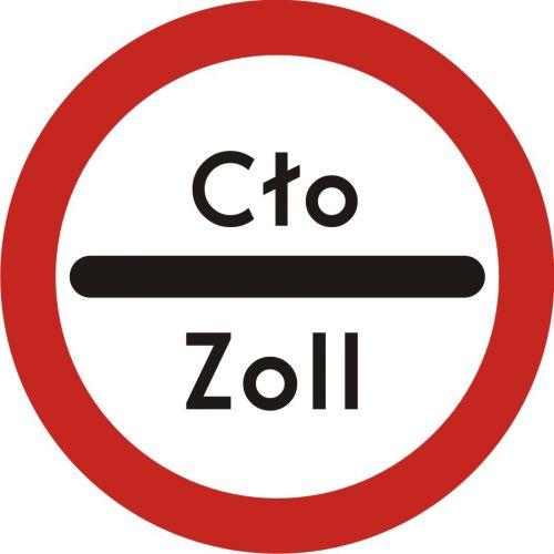 Znak B-32 Stój-kontrola celna - drogowy zakazu - Znaki zakazu – znaki drogowe, cz. II
