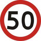 Znak B-33 Ograniczenie prędkości - drogowy zakazu