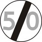 Znak B-34 Koniec ograniczenia prędkości - drogowy zakazu