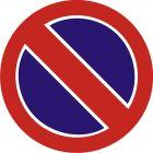 Znak B-35 Zakaz postoju - drogowy zakazu