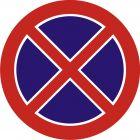 Znak B-36 Zakaz zatrzymywania się - drogowy zakazu
