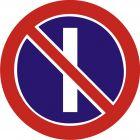 Znak B-37 Zakaz zatrzymywania się w dni nieparzyste - drogowy zakazu