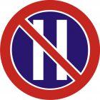 Znak B-38 Zakaz zatrzymywania się w dni parzyste - drogowy zakazu
