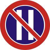 Znak B-38 Zakaz zatrzymywania się w dni parzyste - drogowy zakazu - Karty parkingowe dla niepełnosprawnych