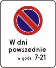 Znak B-39 Strefa ograniczonego postoju - drogowy zakazu