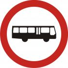 Znak B-3a Zakaz wjazdu autobusów - drogowy zakazu