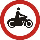 Znak B-4 Zakaz wjazdu motocykli - drogowy zakazu