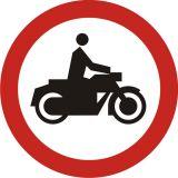 Znak B-4 Zakaz wjazdu motocykli - drogowy zakazu - Znaki zakazu – znaki drogowe, cz. II