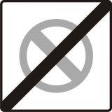 Znak B-40 Koniec strefy ograniczonego postoju - drogowy zakazu - Znaki zakazu – znaki drogowe, cz. II