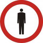 Znak B-41 Zakaz ruchu pieszych - drogowy zakazu