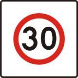 Znak B-43 Strefa ograniczonej prędkości - drogowy zakazu - Znaki zakazu – znaki drogowe, cz. II