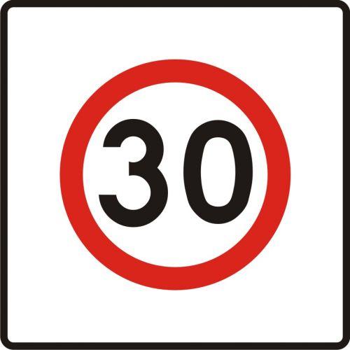 Znak B-43 Strefa ograniczonej prędkości - drogowy zakazu - Strefa ograniczonej prędkości