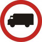 Znak B-5 Zakaz wjazdu samochodów ciężarowych - drogowy zakazu