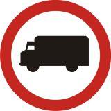 Znak B-5 Zakaz wjazdu samochodów ciężarowych - drogowy zakazu - Zakaz wjazdu dla różnych pojazdów